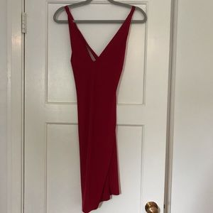 Privy Red Dress with open Back